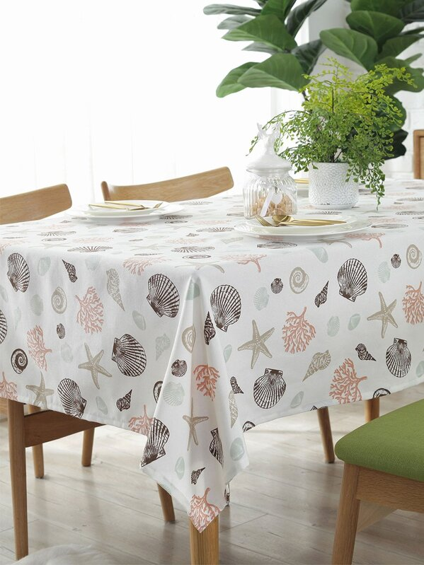 Starfish & Shell Pattern Tablecloth