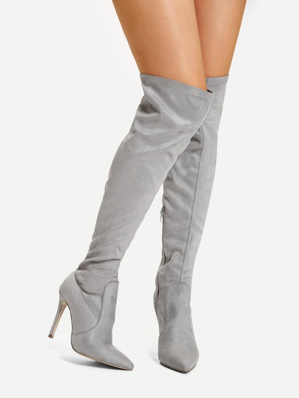 Over The Knee High Heel Boots by Sheinside
