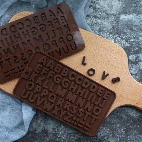 Letter Shape Bake Mold 1pc, Brown
