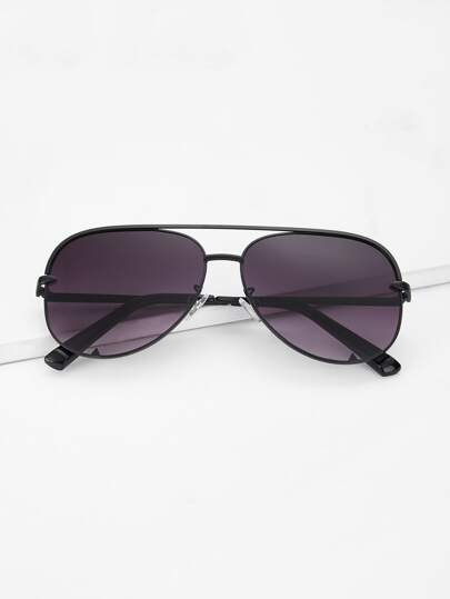 ccd663344a Top Bar Tinted Lens Sunglasses -SheIn(Sheinside)