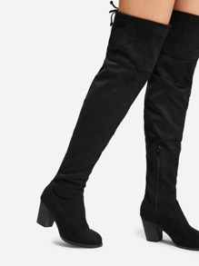 2cd7f9522da9 Lace Up Back Thigh High Boots