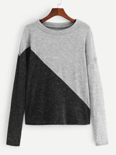 bb544c5814 Contrast Panel Sweater