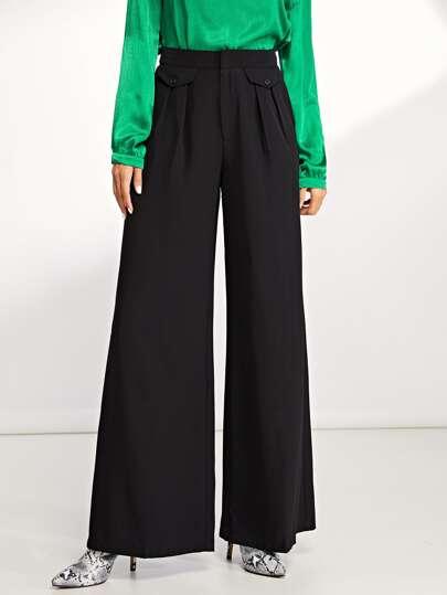 79c11714f74 Slant Pocket Wide Leg Solid Pants