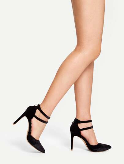 1e6673f6fb1b Double Ankle Strap High Heels