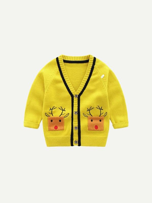 Chaqueta suéter de niñitas con patrón de dibujos animados de manga raglán-Spanish  SheIn(Sheinside) a6941c147e108