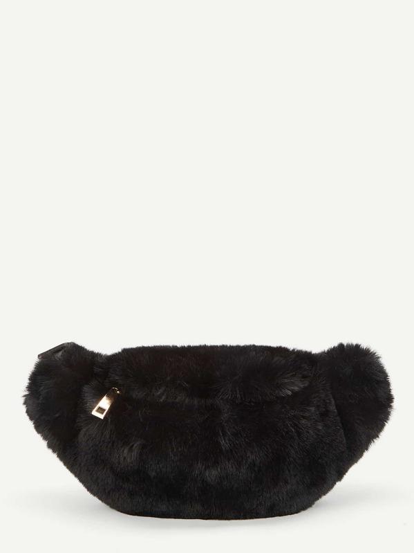 0731b135b1ba Faux Fur Design Bum Bag -SheIn(Sheinside)