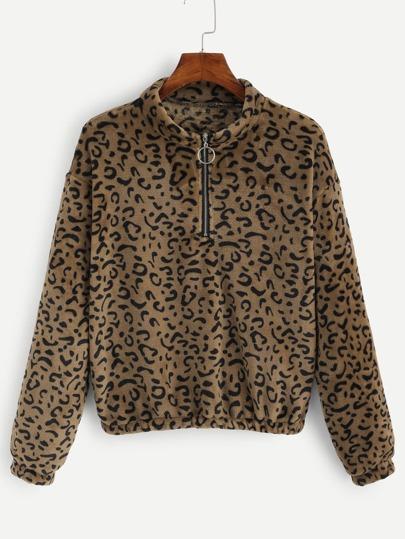 4e8d9c00c2a5 Färgrikedom Dragkedja Leopard Tillfällig Jackor