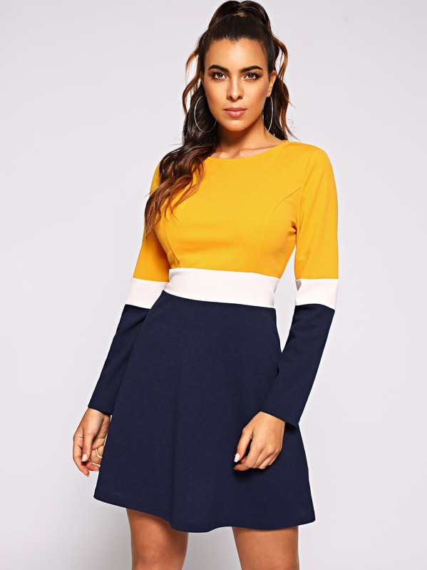 Color Block Dress by Shein