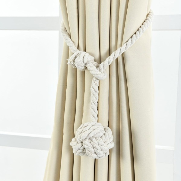 Curtain Tie Back 2pcs, White