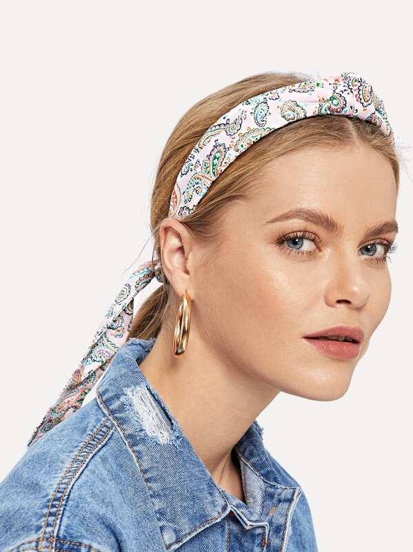 Paisley Headband & Hair Tie Set 2pcs