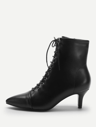 37a669db81b Solid Lace-up Boots