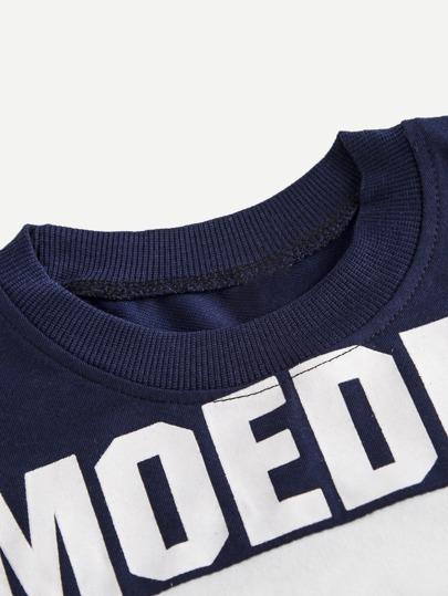 Sweatshirt och byxor i set med texttryck -Svenska SHEIN(SHEINSIDE) 92be4e7aa13ec