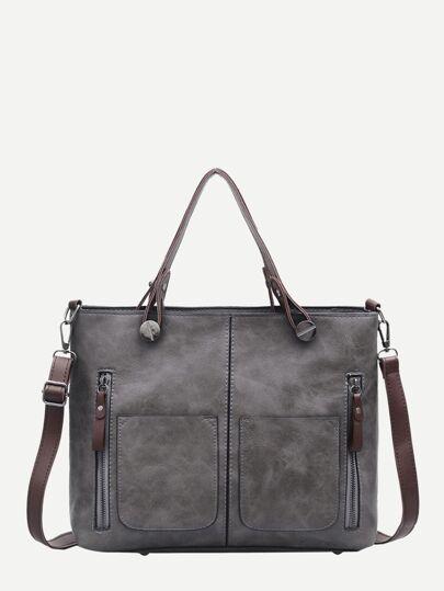 Double Zipper Tote Bag 5b2db81d3734