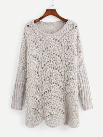 6c5af943767d Loose Knit Longline Sweater