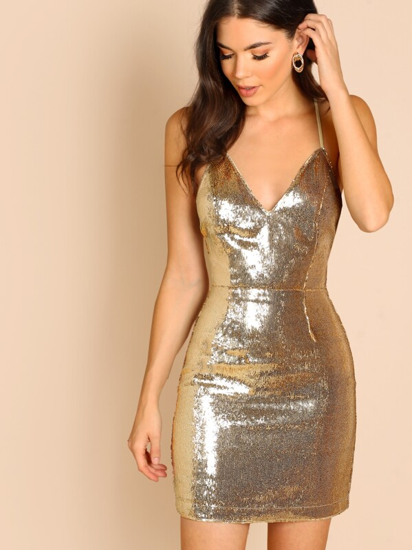 Backless Sequin Dresses