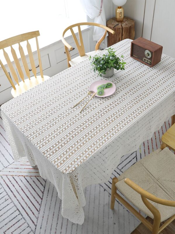 Cut-out Plain Tablecloth