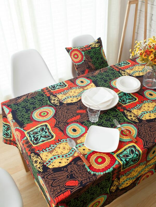 Vintage Pattern Print Tablecloth
