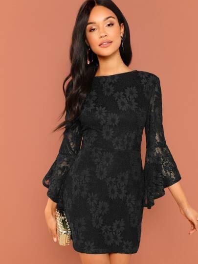Vestidos Cremallera Liso Negro Elegante 42093f41a77c