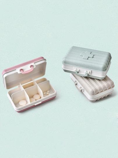 Random Color Medicine Storage Box 1pc