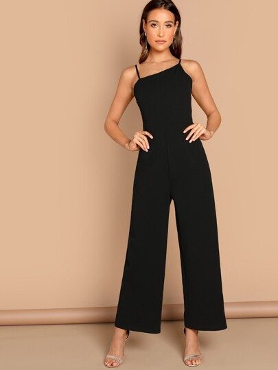 Asymmetric Shoulder Wide Leg Jumpsuit 4a1de8818707
