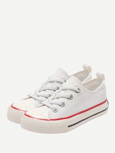 Sneakers in tela con lacci da bambini eb760a936be