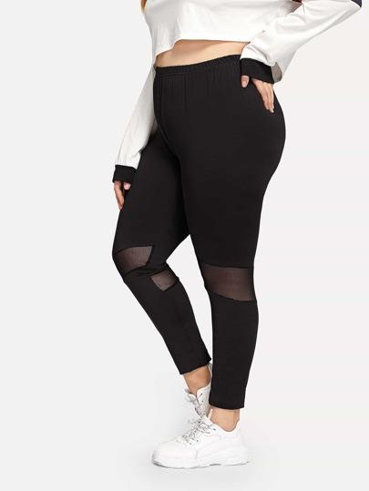 Pantalons, Leggings, Shorts De Grande Taille De Femme   SheIn 217aeb518d3