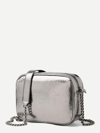 b52fb077ba Metallic Chain Crossbody Bag