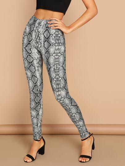 Snakeskin Print Leggings 9b4ffa984ba