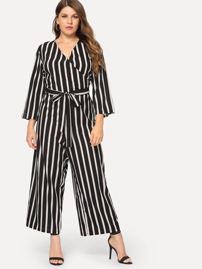 1c4d95ce16 Plus Polka Dot and Striped Jumpsuit