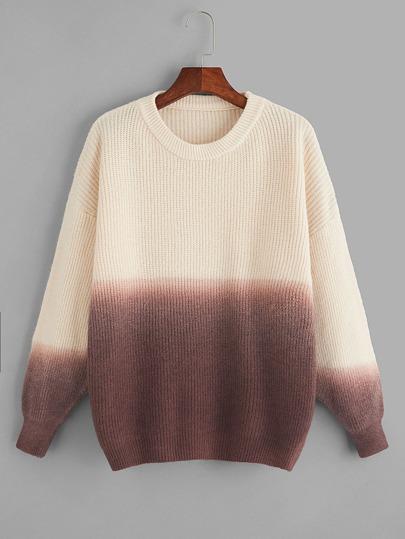 Suéter de ombré de color block-grande 2bffebdd1597
