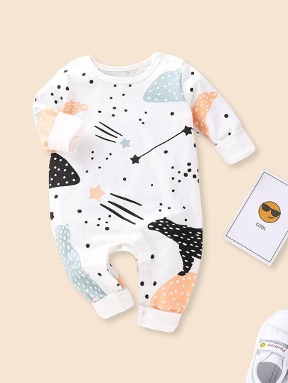 Baby Cartoon Print Jumpsuit