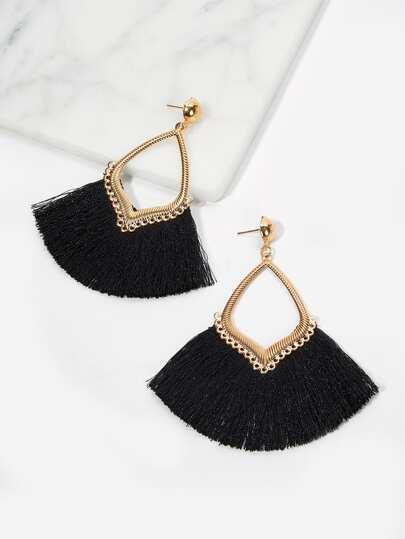 7744151332 Shein Mini Tassel Drop Earrings Products t