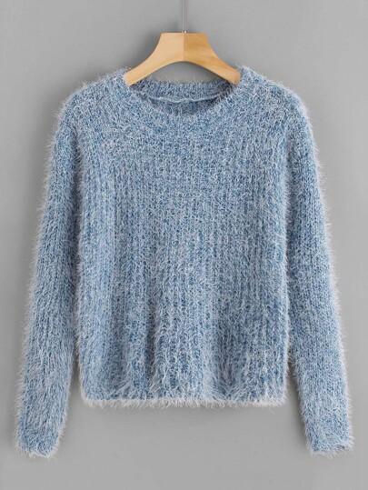 e7433b7c6aa5 Fuzzy Solid Sweater