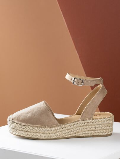 b5007c708890 Closed Toe Espadrille Platform Wedge Sandal TAUPE