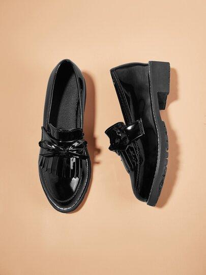 51a3796f017c Chaussures plates à bout pointu avec nœud papillon