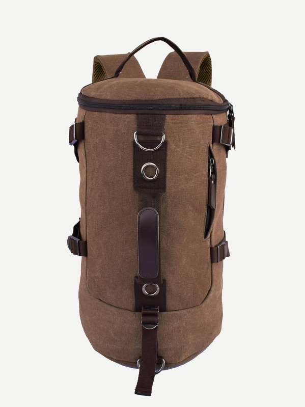 Men Canvas Backpack With Adjustable Strap