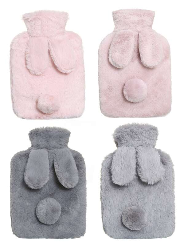 Random Color Rabbit Plush Hot Water Bag 1pc