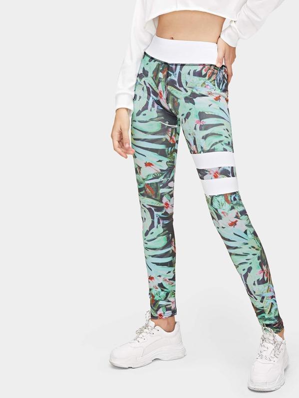 Cheap Floral Print Striped Skinny Leggings for sale Australia  ae466ade7c1