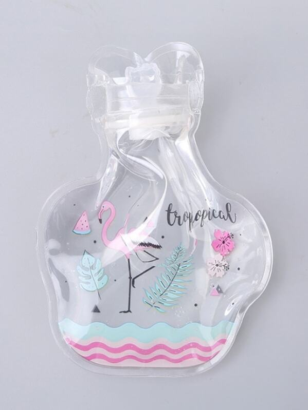 Flamingo Print Clear Hot Water Bag