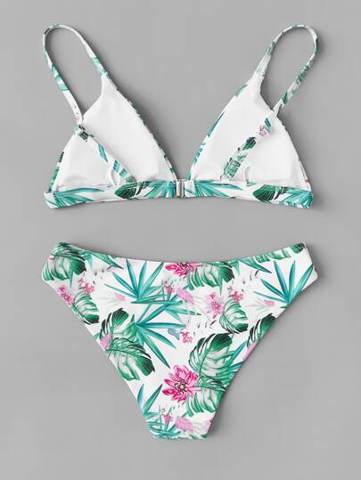 3fd437fdf12f Branco Tropical Maiô | SHEIN