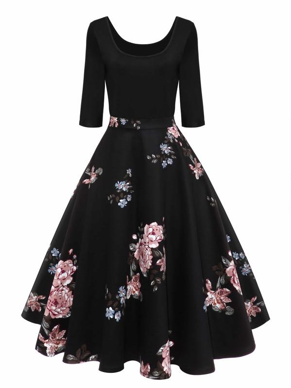 bloemen jurken vintage
