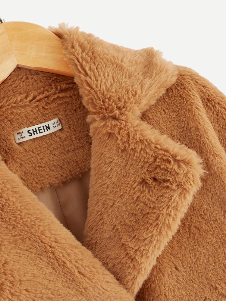 7f0c768ff5c9 Chaqueta teddy de niñas de color block | SHEIN
