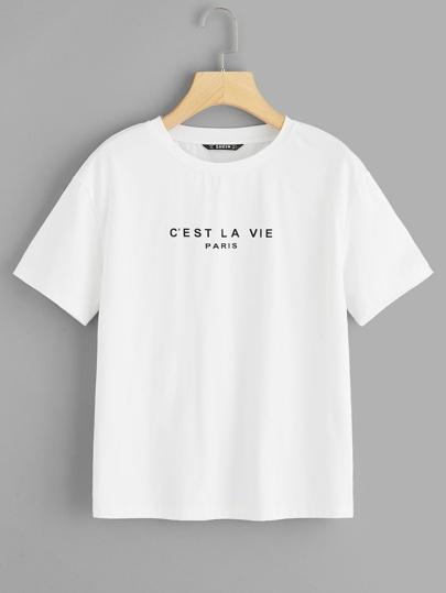 T-shirt avec imprimé et manche courte 221c0d642d9