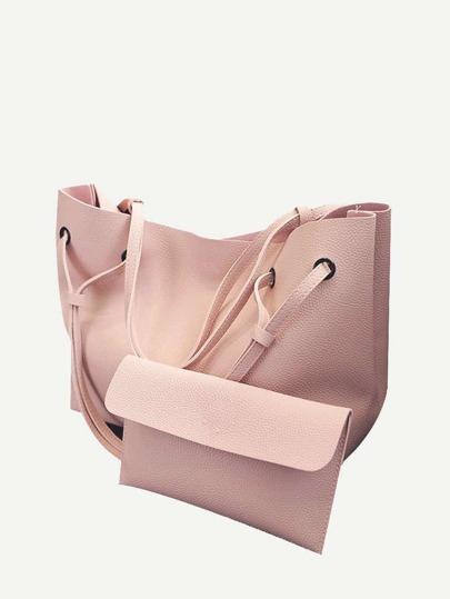 4c7c34d074 2 Pcs Tote Match Clutch Bags Set