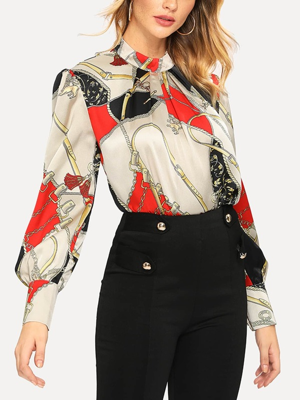 Abstract print with Shein