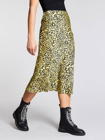 1390fc5d6317 Färgrikedom Dragkedja Leopard Tillfällig Kjolar