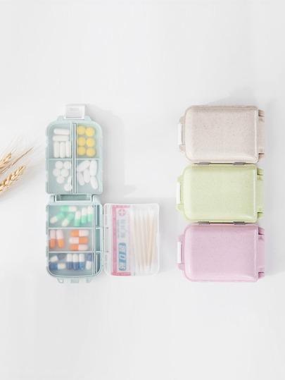 Random Color Pill Storage Box 1pc