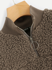b55506d07d67b Plus O-ring Zip Front Teddy Jacket