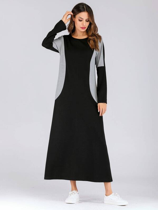 Color Block Longline Dress
