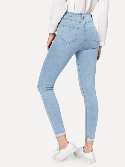 4e1e1ed63a8 Blå Rev Slätt Tillfällig Jeans